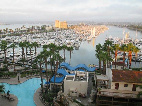 Sheraton San Diego Hotel & Marina: View of Marina from room in Marina Tower