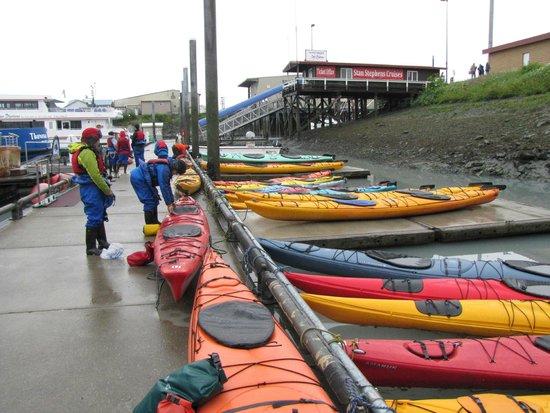 Best Western Valdez Harbor Inn: Loading the seak kayaks for the tour