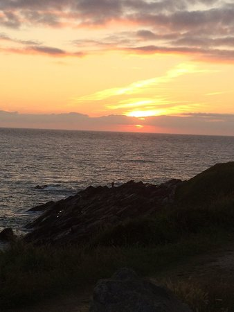 Fistral Beach: Sunset over Fistral :)