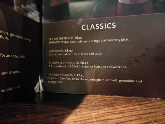 Hard Rock Cafe Malta: classic cocktails