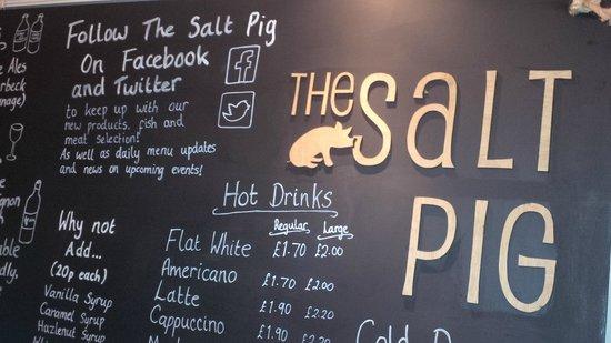The Salt Pig: blackboard
