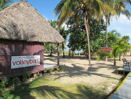 Hotel Roc Arenas Doradas: Área recreativa de vôlei de frente para o mar