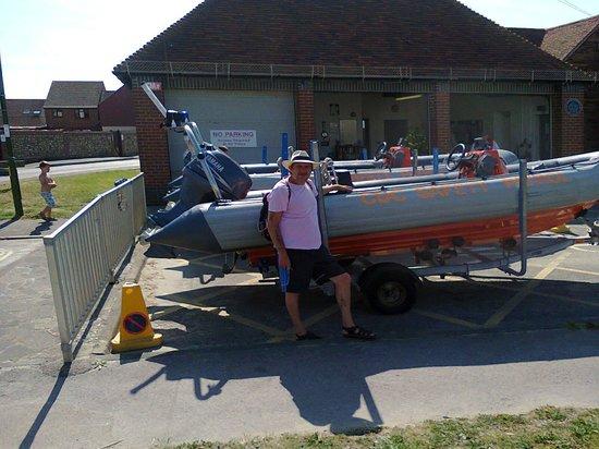 Billy's on the Beach: Bracklesham bay rescue craft