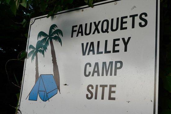 Fauxquets Valley Farm Camping: panneau