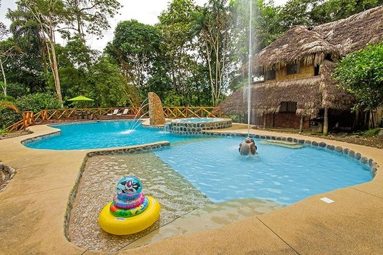 Cotococha Amazon Lodge's children's pool is perfect for our young visitors to refresh and play
