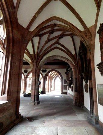 Basler Münster: Walk down side of cathedral