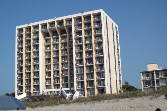 Ocean Park Resort, Oceana Resorts : hotel from the beach.