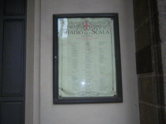 Mailänder Scala (Teatro alla Scala): la locandina