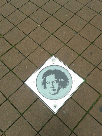 Beethoven House : Sidewalk in front of the museum