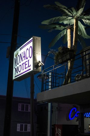 Monaco Motel: view from the sidewalk