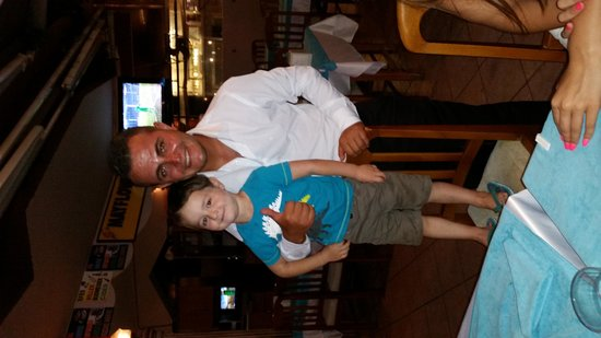 Mayflower : My son and a waiter