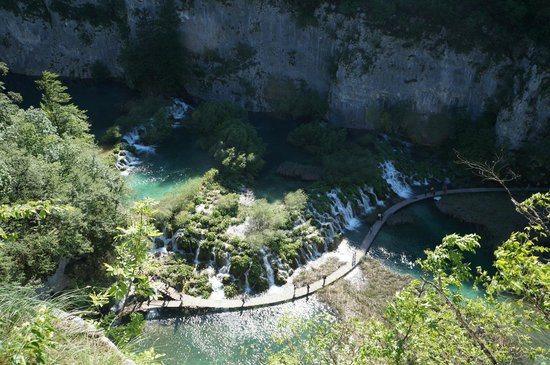 Plitvice Lakes National Park : top view