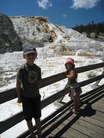 Mammoth Hot Springs: My kids