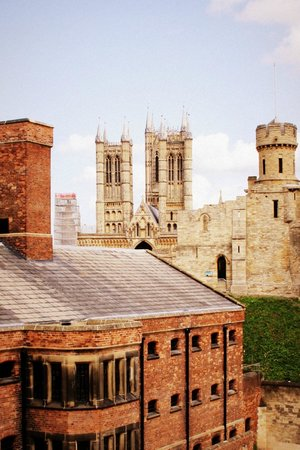 Lincoln Castle looking towards the Cathedral