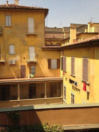 Al Cappello Rosso: View from the 3rd floor window, corridor.