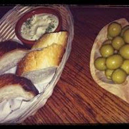 Bar San Juan: Fresh Bead Alioli and Olives