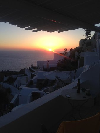 Fanari Villas: Sunset view from our room