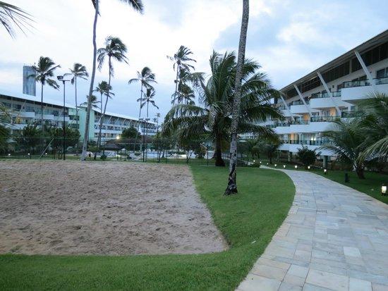 Ancorar Flat Resort: Vista parcial dos apartamentos e da quadra de areia