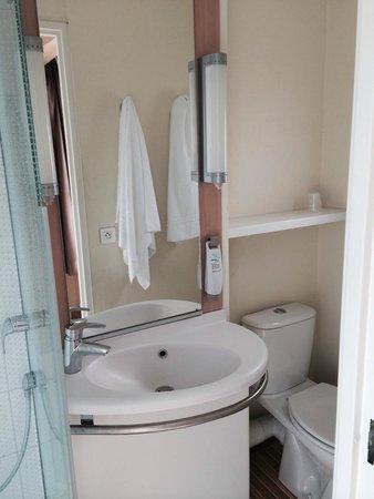 Ibis Tour Eiffel Cambronne: banheiro pequeno