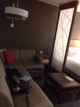Hyatt Place Chicago / River North: The sectional couch (our mess)