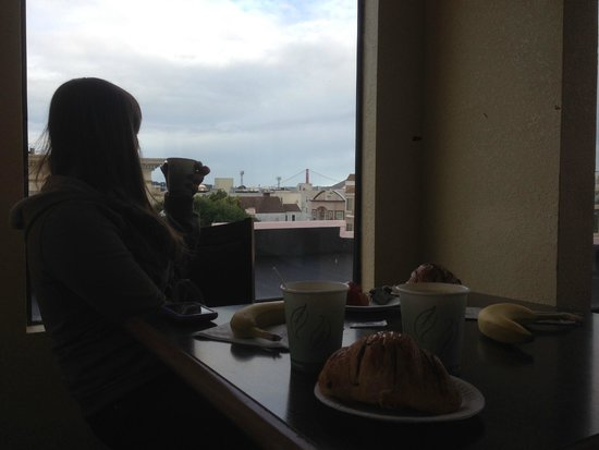 Buena Vista Motor Inn: Vista desde el hall/desayunador del tercer piso