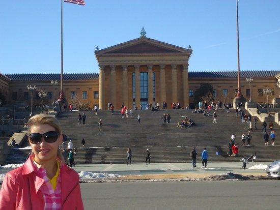 Le musée d'art de Philadelphie : Frente escadas