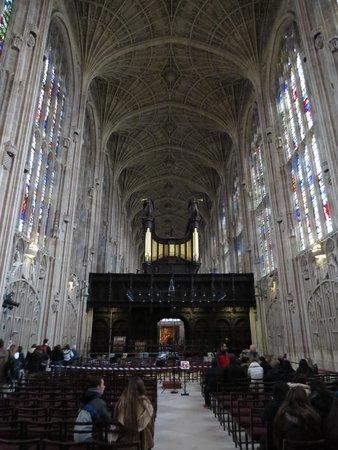 King's College Chapel: Interior da capela