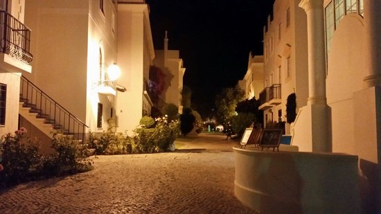 The Old Village Apartments: Pretty at night too
