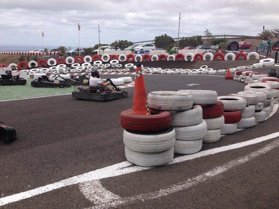 Go Karting San Bartolome : First corner