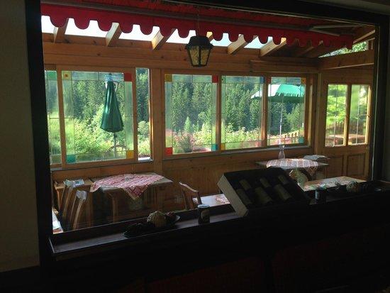 Gasthof Sarsteinblick: Ausblick zum Sarstein