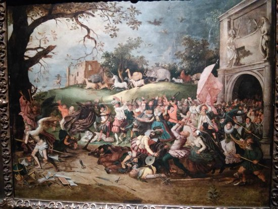 Musée national des beaux-arts : Uma das várias tapeçarias que o visitante poderá apreciar no museu.
