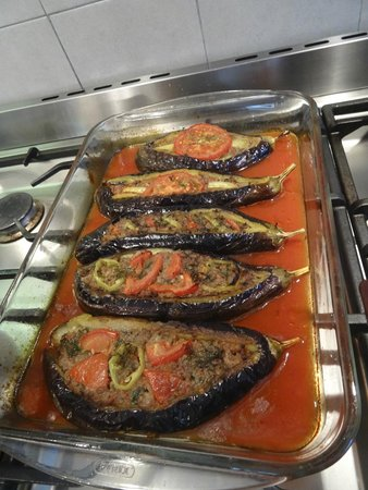 Turkish Flavours: Split belly eggplant.