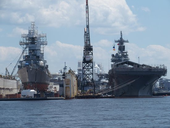 Victory Rover Naval Base Cruises: Navy vessels in privately owned repair yards (USS Stout and USS Wasp)
