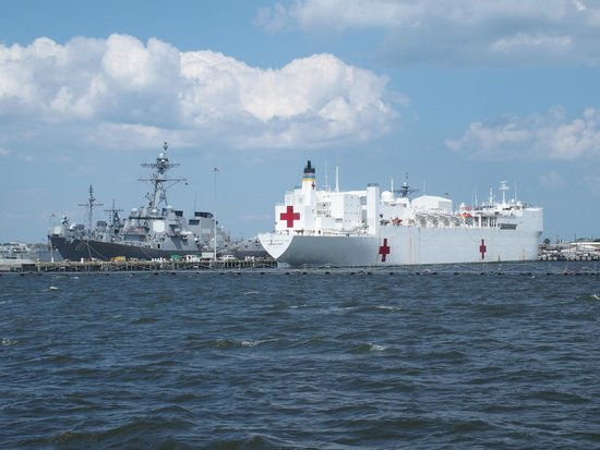 Victory Rover Naval Base Cruises : USS Comfort hospital ship