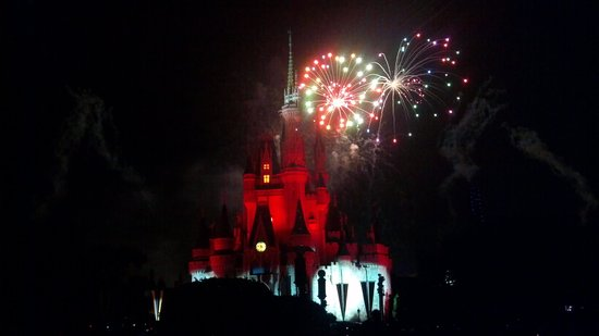 Happily Ever After Fireworks: many colors