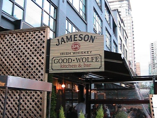 GoodWolfe Kitchen+Bar: GoodWolfe sign on side