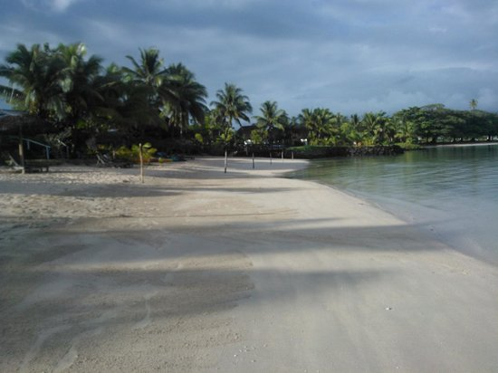 Savaii Lagoon Resort: lagoon in the morning