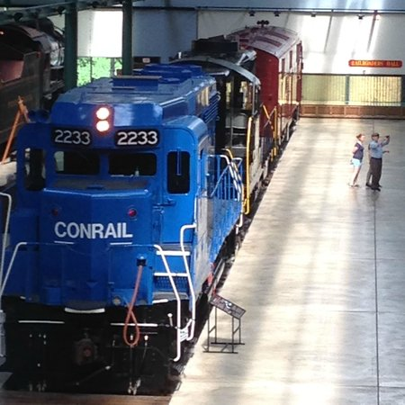 Railroad Museum of Pennsylvania: Looking at the trains from the overview