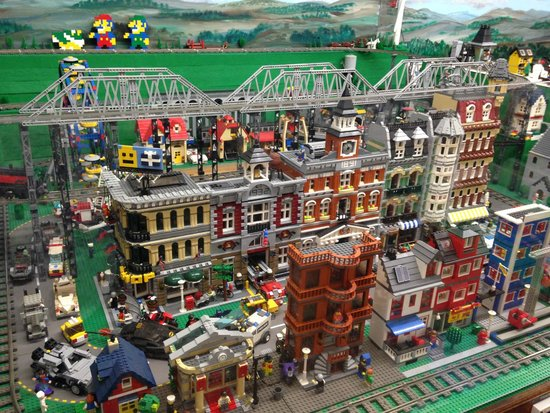 Railroad Museum of Pennsylvania : Awesome Lego train and village - complete with Mario and Luigi