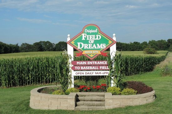 Field of Dreams Movie Site: Sign at Entrance