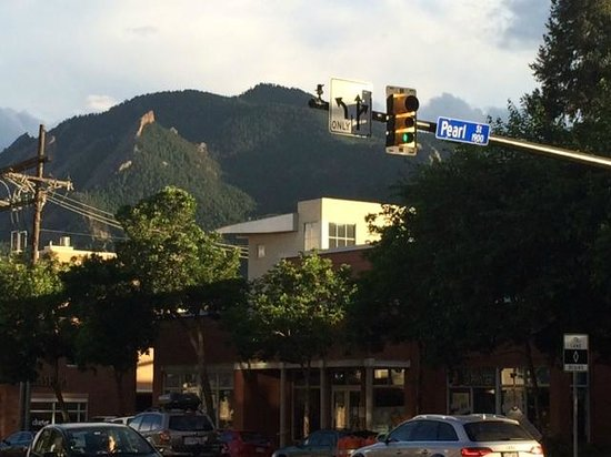 Pearl Street Mall: View of Mountains from Pearl Street
