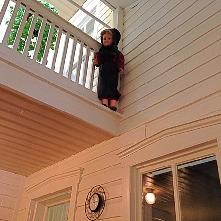 "Good 'N Plenty Restaurant : We laughed at this doll stuck up high - ""Don't jump!"""