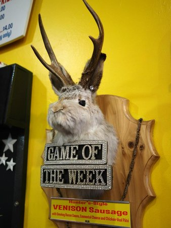 "Hot Doug's Inc. : Venison was the offering for ""Game of the Week"""