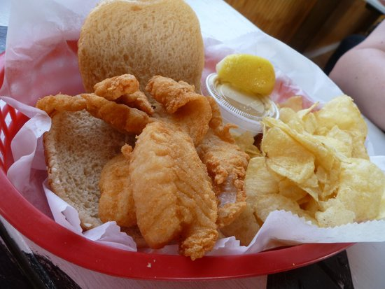 Jolly Roger Pub and Marina: The best fish sandwich!