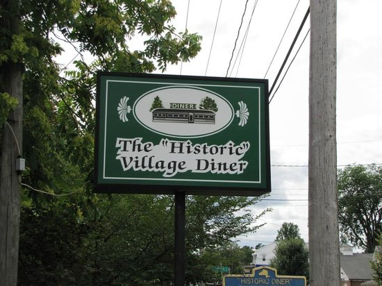 Historic Village Diner: Many people call this the Red Hook Diner - it is not. Look for this sign