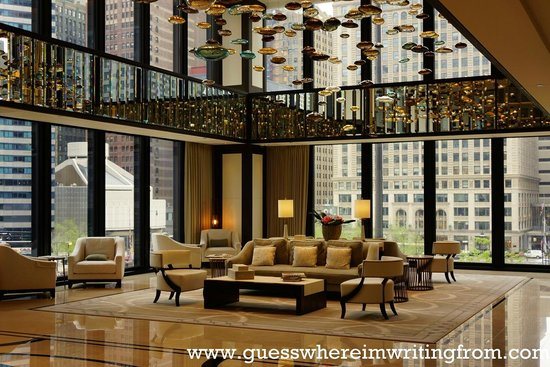 The Langham, Chicago : Modern designed lobby at the 2nd floor