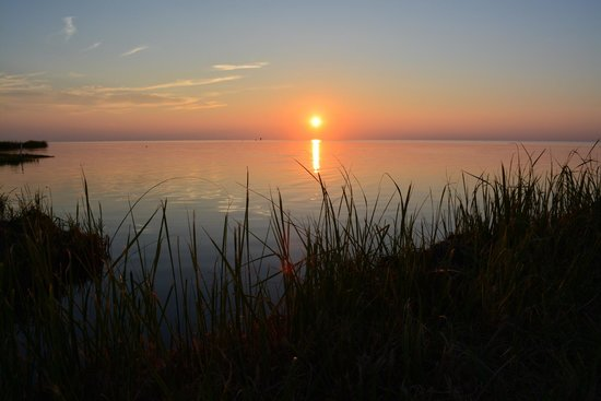 Frisco Woods Campground: sunset on the Pamlico Sound
