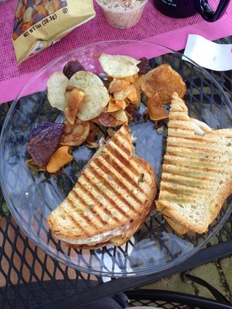 Brick House Cafe: GRILLED CHICKEN, SALAMI AND SWISS PANINI