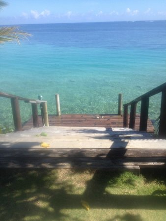 Le Lagoto Resort & Spa: Our own private pier