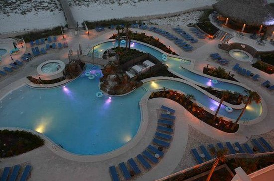 Holiday Inn Resort Pensacola Beach: Lazy River view from our room